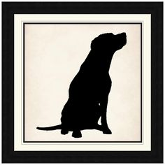 Dog Silhouette Wall Art