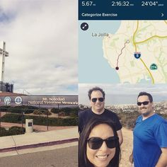 Hike! Mt Soledad Veterans memorial ... what a beautiful day! 🌤⛅️ #SanDiego #lajolla #hike #mtsoledad #mtsoledadveteransmemorial #favoriteplace #walking #hiking #exercise #earningourdinner #beautifulday #hangingout #lajollalocals #sandiegoconnection #sdlocals - posted by Laja Gonzales  https://www.instagram.com/lajagonzo. See more post on La Jolla at http://LaJollaLocals.com