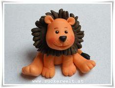 Leo, der Löwe aus Fimo... auf der Seite mit Bildern schritt für schritt vorgemacht, in deutsch.