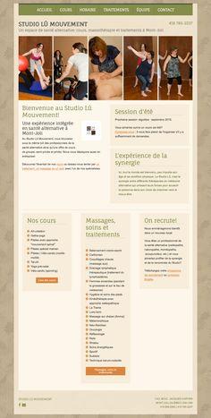 Studio lû mouvement de Mont-Joli a créé son site Web avec Mon site Primof