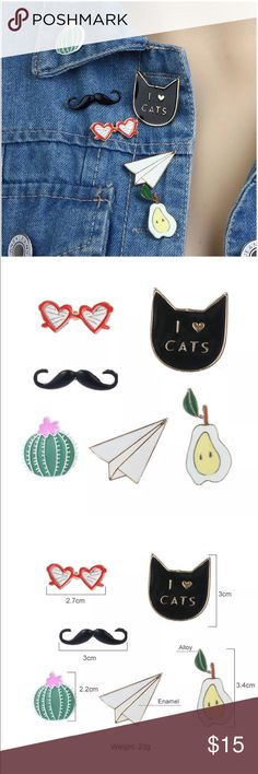 """NEW✨ """"I love Cats"""" Brooch Pin Set 😍✨ ✨Fashion Jewelry  🔸Brand New✨ 🔸PRICE IS FIRM- already listed at lowest price  🔸If you want to save please look into bundling  🔸In Stock 🔸No Trades 🔸Will ship within 24 hours Monday-Friday 🚫Please -NO- Offers on items priced $10 and under AND ON SALE ITEMS‼️  🚫Serious Inquiries Only❣️  🔹Bundle one or more items from my boutique to only pay one shipping fee✨ Jewelry Brooches"""