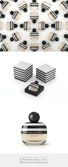 Marc Jacobs Mod Noir #fragrance #packaging designed by Established - http://www.packagingoftheworld.com/2015/05/marc-jacobs-mod-noir.html