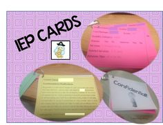 Learning Ahoy!!: IEP Cards