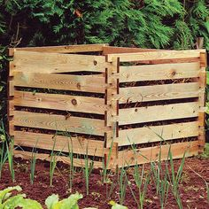 How to build a compost box.