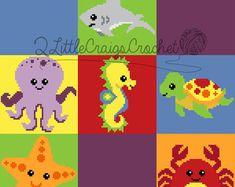 Woodland Animals-Fox-Owl-Bear-Deer-Squirrel-Raccoon-Bunny-Crochet Chart-Crochet Graph-Baby Blanket-Crochet Pattern-Customized-Personalized von 2LittleCraigsCrochet