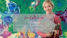 Pouring - technika wycierania, wipe, DIY tutorial Diy Tutorial, Decoupage, Tutorials, Youtube, Painting, Painting Art, Paintings, Painted Canvas, Drawings