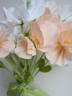 Sweet Pea Paper Floral Wedding Bouquet