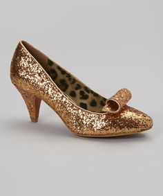 Look at this Shellys London Gold Tinkerbell Pump on #zulily today!