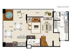 Apartamento de 3 quartos à Venda, Aguas Claras - DF - RUA DAS PAINEIRAS - R$ 750.000,00 - 144m² - Cod: 1451055