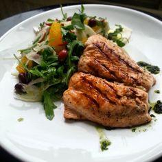 Grilled salmon#fennel#orange#black olive salad#dinner#nomnomnom