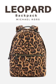 b374fda2fde8 Animal print leopard cheetah print backpack by Michael Kors. Stylish bag  for everyday. #