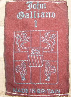 """John Galliano a huge shirt from """"Afghanistan Repudiates Western Ideals"""" S/S1985-lable"""