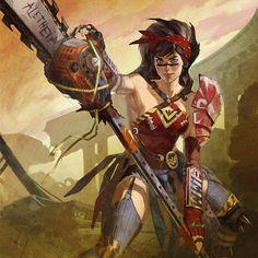 Atomic Wonder Woman Concept - Characters & Art - Infinite Crisis