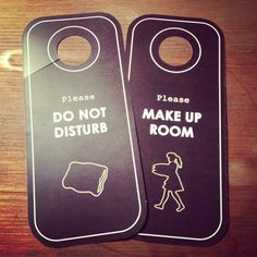Custom door hangers finished for a boutique hotel in California. #boutique…
