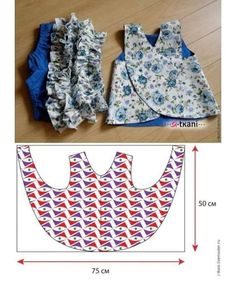 Photo by Costura Criativa on February Kids Dress Patterns, Kids Clothes Patterns, Clothing Patterns, Baby Bibs Patterns, Sewing Clothes, Doll Clothes, Baggy Pants, Baby Dress Design, Baby Frocks Designs