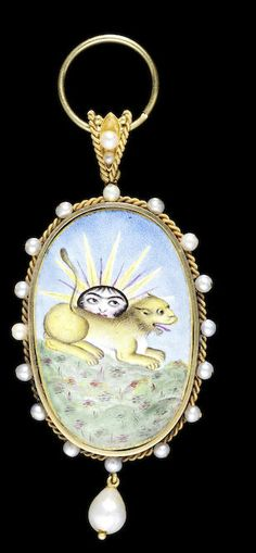 One of the earliest Insignia in gold and enamel of the Qajar Order of the Lion and Sun Persia, circa 1810-20 Verkauft für £17.500 inkl. Aufgeld, (€24.134)