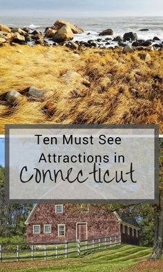 Connecticut is packed with fun things to do! Here is our list of top attractions in Connecticut! Read more now about 10 must-see Attractions in Connecticut! Mystic Connecticut, New Haven Connecticut, Hartford Connecticut, Old Saybrook Connecticut, Litchfield Connecticut, New England States, New England Travel, Places To Travel, Travel Destinations