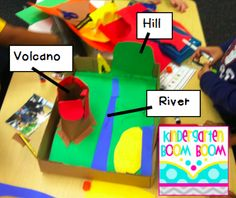 Learning about landforms in kindergarten... hands-on learning fun!  {Blog:  Kindergarten Boom Boom}