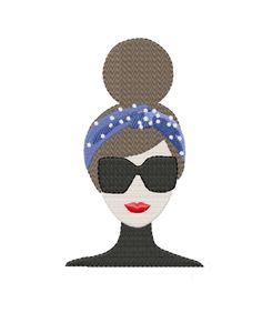 Headband Chic Fashion Girl Lele Embroidery Design Herrington Design Instant Downlaod PES BX All Formats Monogram