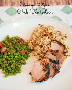 Orange Dijon Pork Tenderloin - the best pork tenderloin we've made. My husband requested it twice in one week!