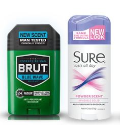 You can get FREE FREE Brut or Sure Deodorant!