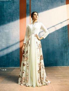 fc0dc4e1ae Buy White Color Satin Silk Gown