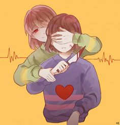 Undertale Chara and Frisk