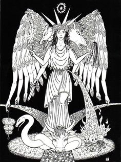 """Hecate [Hekate]"" - by Jane Estelle Trombley    [Art found at http://jetarts.wordpress.com/2011/08/12/hecate/]"