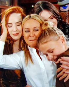 Sharon's support team gathers around her. Camryn Grimes, Eric Braeden, Young And The Restless, Stars, Sterne, Star