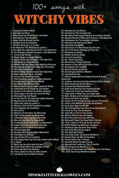 Check out my playlist of songs with witchy vibes. Whether you're looking for something dark and dangerous, light and ethereal or supernatural in nature, you're bound to find it on my Witchy Vibes playlist. Halloween Tags, Halloween Music, Halloween Playlist Music, Halloween Movies List, Halloween Ideas, Halloween Party Songs, Halloween Costumes Adult, Halloween Things To Do, Scary Movie List