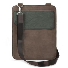 iPad Fashion Genuine Leather Shoulder Bag Case With Flap Coffee