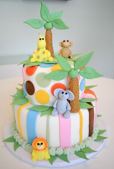 unknown sex baby shower | Jungle Baby Shower Cake