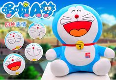 18.5 Inches Blue Color Stuffed Plush 4 Funny Expressions Doraemon Soft Toys #Handmade