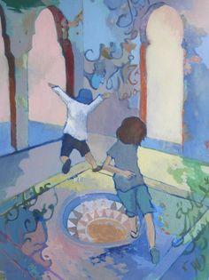 """Saatchi Art Artist justine formentelli; Painting, """"A l'abris des heures chaudes"""" #art"""