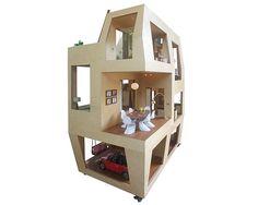 architecture brio scales down the spiral doll house at 1:6 - designboom | architecture