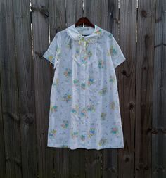 M Medium Vintage Lingerie Pajamas Button Up by PinkCheetahVintage