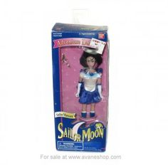 Sailor Moon Doll 6 inch Sailor Mercury Doll with Wand In Box Bandai America 1995 Sailor Moon Toys, Sailor Moon Art, Sailor Moon Merchandise, Sailor Mercury, Price Sticker, Blue Box, Wands, 6 Inches, Fan Art