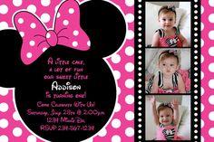 Rosa y negro lunares Minnie Mouse por HeathersCreations11 en Etsy