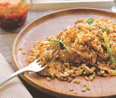 Yam Kai (Thai Eggs) with Leftover Grains Recipe | Epicurious.com