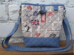 Купить Сумка джинсовая летняя Британия - сумка, сумка ручной работы, сумка женская