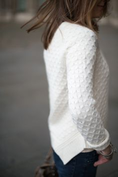 Cozy white sweater.