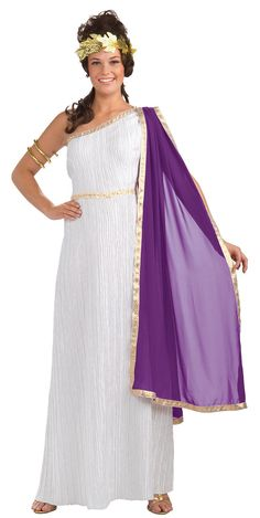 Womens Medium Roman Goddess Costume - Roman And Greek Costumes picclick.com