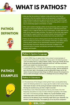 Pathos English Tips, Learn English, Famous Novels, Language And Literature, Emotional Connection, Songs To Sing, Test Prep, In Writing, English Grammar