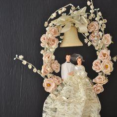 Vintage Wedding Cake Topper  Vintage Bride and Groom  by KOLORIZE, $60.00