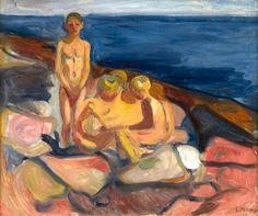"""bofransson:  Edvard Munch, """"Badende gutter (Bathing Boys),"""""""