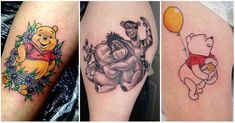 Display your affection for Christopher Robin's favorite pal with one of these Winnie the Pooh tattoos. Also featured are Tigger, Eeyore, and Piglet tattoos. Sibling Tattoos, Baby Tattoos, Friend Tattoos, Winnie The Pooh Honey, Winnie The Pooh Friends, Cartoon Design, Cartoon Styles, Piglet Tattoo, Winnie The Pooh Tattoos