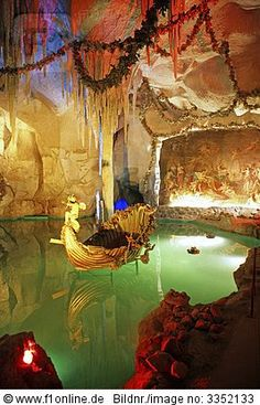Venus Cave at Linderhof Castle, Bavaria,  Germany #Travel #Adventure #Wanderlust