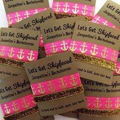 Bachelorette Hair Tie Party Favors // To Have and To Hold Your Hair Back // - Hair Tie Favors - Wedding - Let's Get Shipfaced - Sophie World Bachelorette Cruise, Nautical Bachelorette Party, Bachelorette Party Favors, Wedding Favors, Wedding Ideas, Wedding Supplies, Tie The Knot Wedding, Wedding Hair, Cruise Wedding