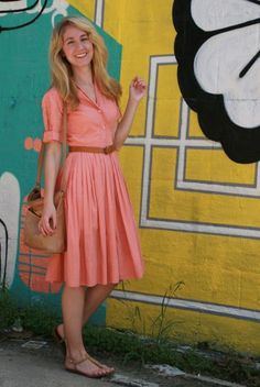 I love fit and flare type dresses that accentuate my small waist. I also enjoy dresses with retro vibe. I love color! Fit and flare dresses 2018 Modest Dresses Casual, Day Dresses, Summer Dresses, Modest Clothing, Casual Maxi Skirts, Modest Summer Outfits, Women's Clothing, Midi Skirts, Casual Clothes