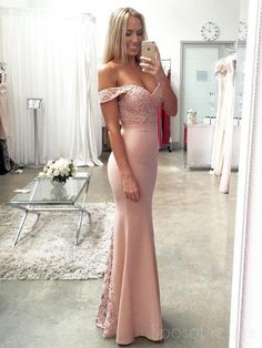 Mermaid Prom Dresses Long Pink Prom Dresses Modest, Lace Prom Dresses Beautiful, Satin Prom Dresses Off The Shoulder Cheap Formal Dresses, Mermaid Evening Dresses, Event Dresses, Prom Party Dresses, Sexy Dresses, Woman Dresses, Dress Formal, Formal Gowns, Club Dresses